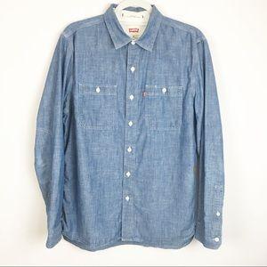Levi's Standard Fit Chambray Men's Medium Shirt